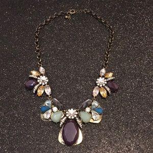 Purple multi stone necklace
